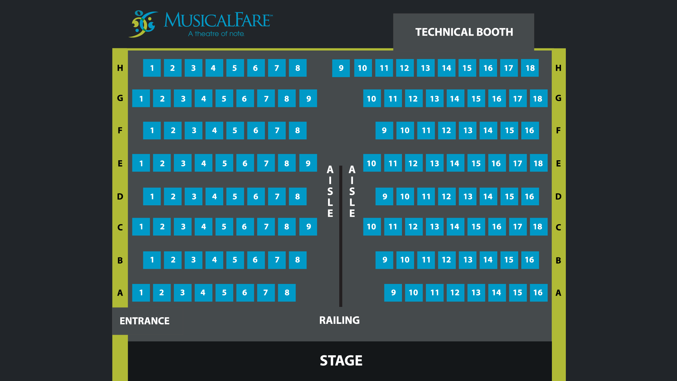Seating Charts Mainstage